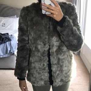 Faux fur gray jacket